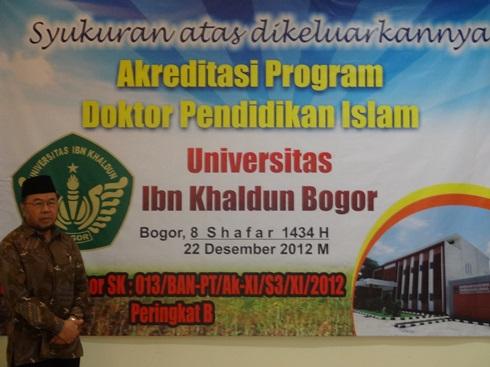 Tasyakur Akreditasi Doktor Pendidikan Islam